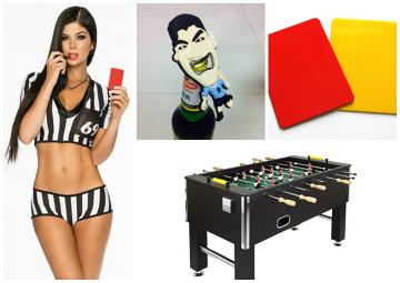 Piłkarskie prezenty na święta. Dla kumpla Suarez do otwierania piwa, a dla dziewczyny strój sędziowski (GALERIA)