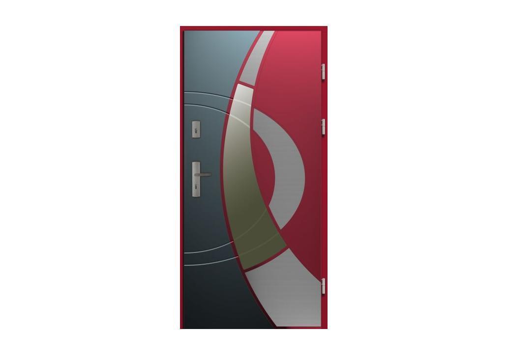 Prototyp nowych drzwi zewnętrznych z Kolekcji Rycerskiej firmy CAL, którego premiera odbyła się podczas targów Budma 2013