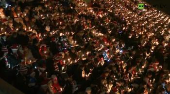 27 tysięcy kibiców śpiewało kolędy na stadionie (WIDEO)