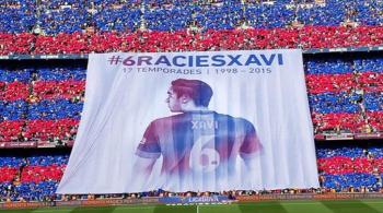 """""""Dziękujemy, Xavi!"""". Barcelona pożegnała klubową legendę (WIDEO)"""