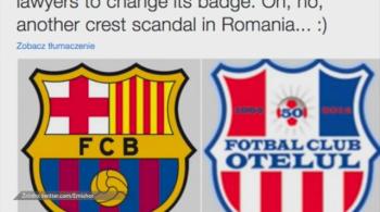 FC Barcelona nakazała zmienić herb drugoligowemu klubowi z Rumunii. Otelul oskarżony o plagiat [WIDEO]