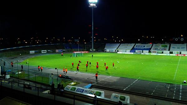 GKS Tychy na rozgrzewce w Olsztynie