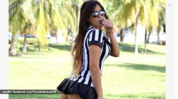 Seksowna modelka chce zostać arbitrem. Może sędziować nawet mecze Serie A (WIDEO)