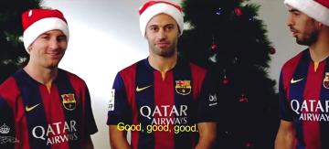 Piłkarze życzą wszystkim wesołych świąt! (WIDEO)
