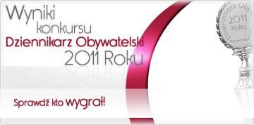 Wyniki głosowania w konkursie Dziennikarz Obywatelski 2011 Roku z północy 18 maja