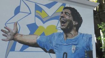 19 metrów kwadratowych Luisa Suareza, czyli mural w hołdzie piłkarzowi (WIDEO)