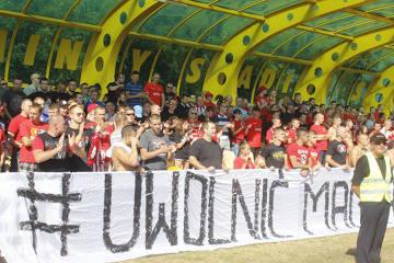 Kibice na meczu Omega Kleszczów - RTS Widzew Łódź (GALERIA)
