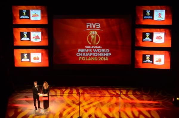 Prezentacja logotypów MŚ 2014 w siatkówce