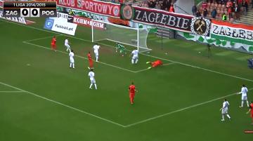Skrót meczu Zagłębie Lubin - Pogoń Siedlce 0:0 (WIDEO)
