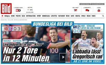 """""""Lewandowski w kryzysie. Tylko 2 gole w 12 minut"""" - """"Bild"""" na wesoło komentuje strzeleckie popisy """"Lewego"""""""
