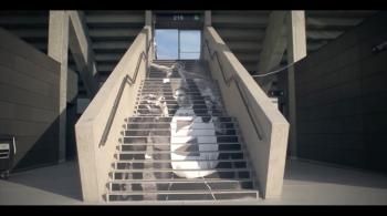 Na stadionie Legii po kartach historii. Na 100-lecie klubu przygotowano wyjątkowe dekoracje na schodach [WIDEO]