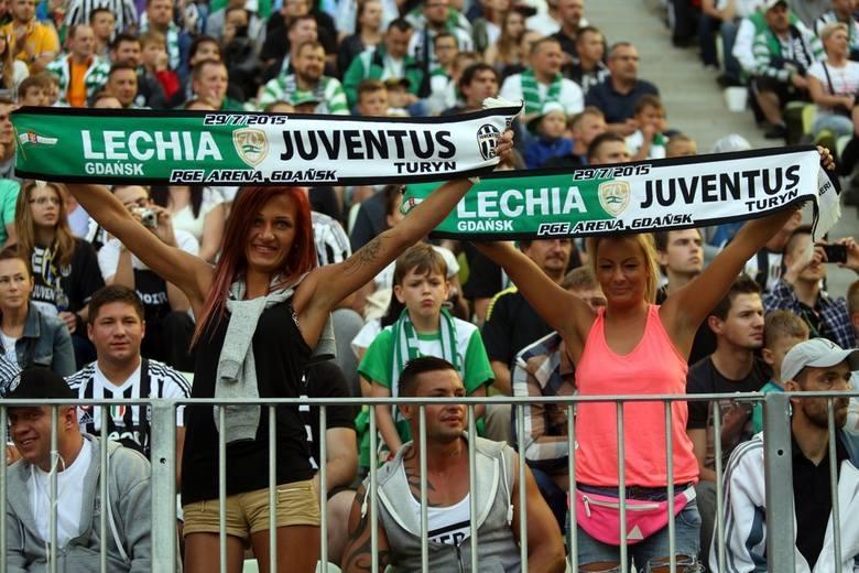 Kibice na meczu Lechia Gdańsk - Juventus Turyn (GALERIA)