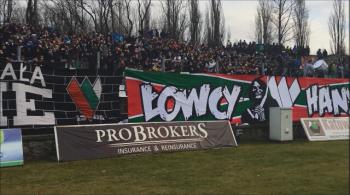 Doping kibiców podczas meczu Zagłębie Sosnowiec - GKS Katowice [WIDEO]