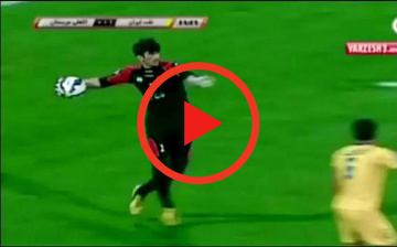 Zagranie weekendu | Potężny wyrzut piłki irańskiego bramkarza! (WIDEO)