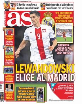 Hiszpańskie media nie mają wątpliwości. Lewandowski wybrał Real!