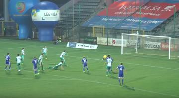 Skrót meczu Miedź Legnica - Olimpia Grudziądz 4:0 [WIDEO]