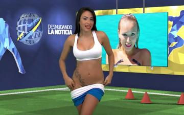 Chilijska prezenterka rozebrała się mówiąc o Cristiano Ronaldo (WIDEO)