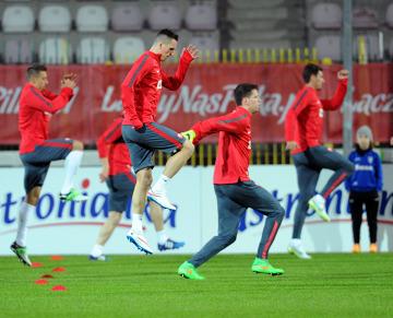 Pierwszy trening reprezentacji Polski przed meczem z Irlandią [GALERIA]