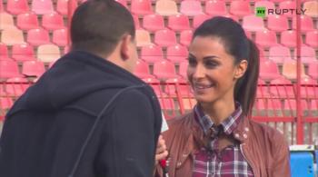 Serbska reporterka: Zawodnicy mnie irytują (WIDEO)