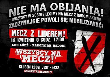 Kibice Łódzkiego Klubu Sportowego mobilizują się na mecz z liderem [ZDJĘCIA]