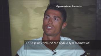 """Cristiano Ronaldo wściekł się na dziennikarza. """"Nie będę mówił o FIFA!"""" (WIDEO)"""