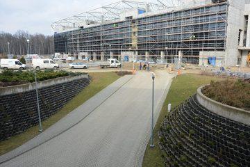 Tu jeszcze w tym roku zagra ŁKS. Prezentujemy zdjęcia z budowy trybuny przy al. Unii 2 [ZDJĘCIA]