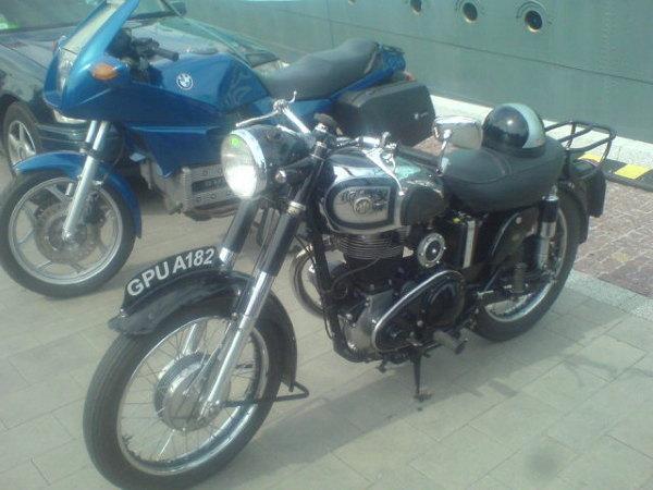 Motocykle na skwerze Kościuszki
