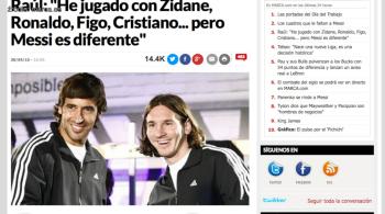 """Raul wbił szpilkę Ronaldo. """"Messi jest najlepszym zawodnik, z jakim się mierzyłem"""""""