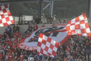 Kibice na meczu Widzew Łódź - Astoria Szczerców (GALERIA)