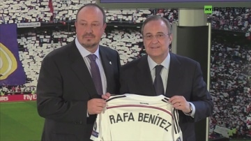 """Prezydent Realu przywitał Beniteza. """"Pójdziemy drogą, która pozwoliła zdobyć wiele trofeów"""""""