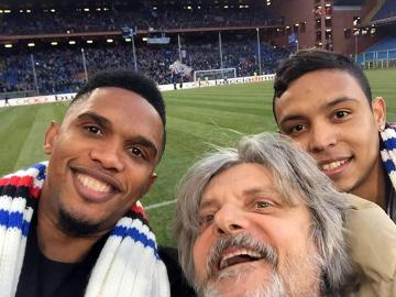 """Pierwsze """"selfie"""" Samuela Eto'o w Sampdorii (ZDJĘCIE)"""