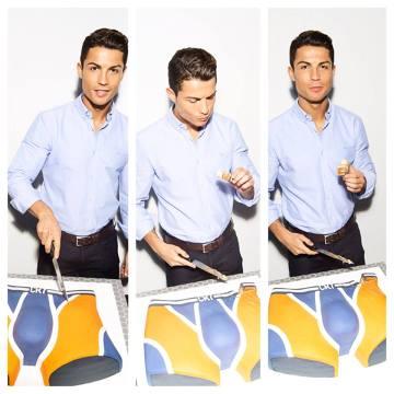 Ronaldo świętował rocznicę swojej firmy. Pokroił tort w kształcie majtek