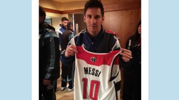 Messi pośród gigantów. Argentyńczyk oglądał mecz NBA z udziałem Gortata (WIDEO)