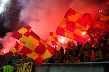 Kibice na meczu Jagiellonia Białystok - Wisła Kraków 2:1 (GALERIA)