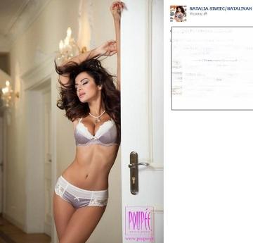 Natalia Siwiec reklamuje bieliznę