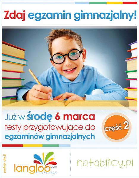Test gimnazjalny cz. II już 6 marca!