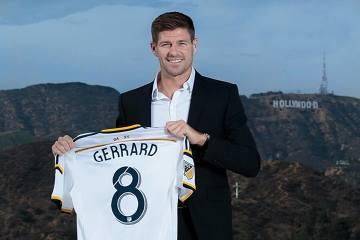 Steven Gerrard z koszulką LA Galaxy