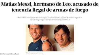 Brat Lionela Messiego zatrzymany za nielegalne posiadanie broni [WIDEO]