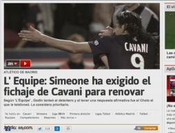 Ultimatum Simeone: Sprowadzicie Cavaniego to przedłużę kontrakt