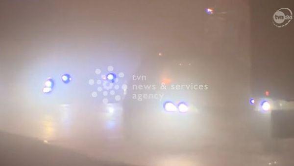 Łódź we mgle. Widoczność do 20 metrów