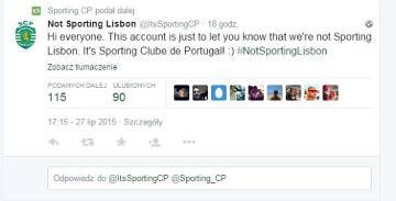 Nie chcą być nazywani Sporting Lizbona, więc uczą poprawnej nazwy