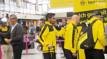 Borussia Dortmund wyleciała do Austrii, gdzie rozegra pierwszy mecz w Lidze Europy (WIDEO)