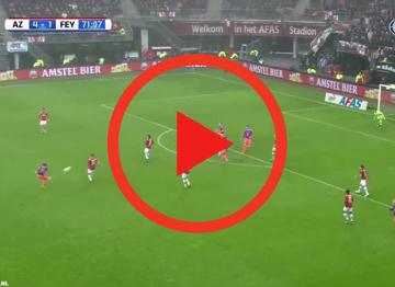 Zagranie weekendu | Nowy talent z Feyenoordu strzela jak Hulk [WIDEO]