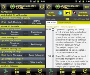 Ekstraklasa.net LIVE! na Androida