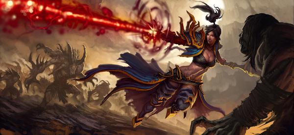 Czarodziejka/mag to chyba jedyna klasa jaka dotrwała bez poważniejszych zmian od Diablo 1 do Diablo 3