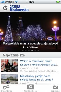 Gazeta Krakowska na iPhone'a
