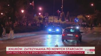 Kolejne starcia chuliganów z policją w Knurowie. 30 zatrzymanych (WIDEO)