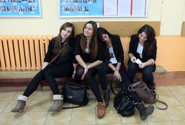 Po maturze próbnej w VIII LO w Krakowie