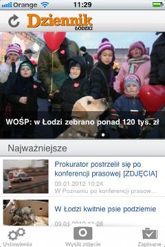 Dziennik Łódzki na iPhone'a