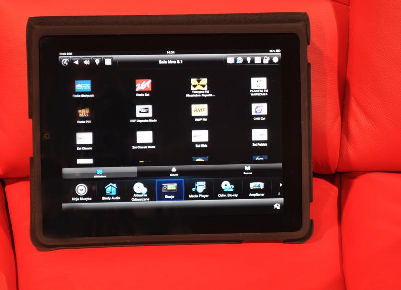 Sala kinowa RMS.4D Sterowanie: iPad